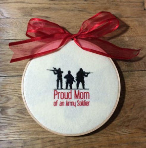 Proud Army Mom Wall Hanging Sign - MotherProud