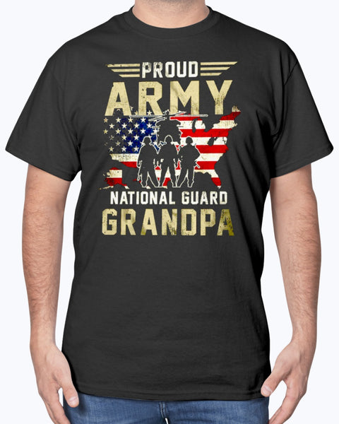Cool Army National Guard Grandpa T-shirts