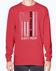 RED Friday U.S Navy Mom Flag T-shirts