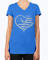 Proud Air Force Mom Heart Flag T-shirts