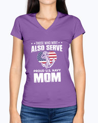 Proud Navy Mom Also Serve T-shirts