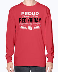 Red Friday Army Mom Support Daughter T-shirts