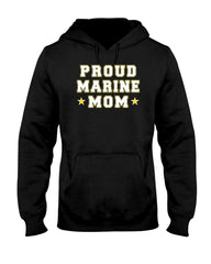 Proud Marine Mom Stars T-shirts