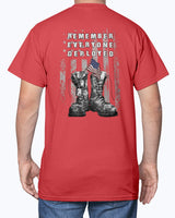 Red Friday US Military Boots T-shirts