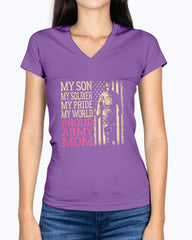 Son Soldier Pride Army Mom T-shirts