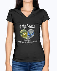US Army Air Force Mom My Heart T-shirts