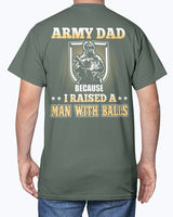 Proud Army Dad Man with Balls T-shirts
