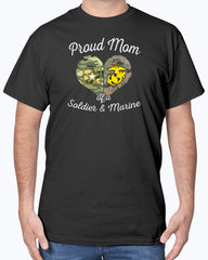 Military Mom of Soldier & Marine T-shirts