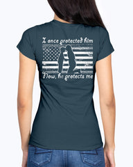 US Army Mom Once Protected Flag T-shirts
