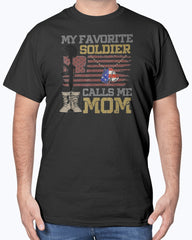 My Favorite Soldier Proud Army Mom T-shirts