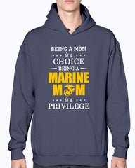Proud Marine Mom Privilege T-shirts