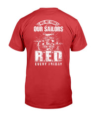 Navy RED Friday Sailor T-shirts