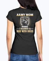 US Army Mom Man with Balls T-shirts