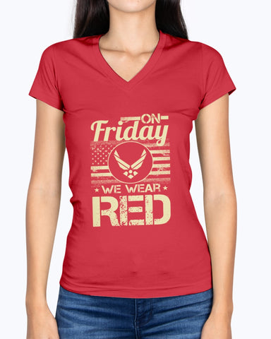 Air Force Mom Dad On Friday We Wear RED T-shirts