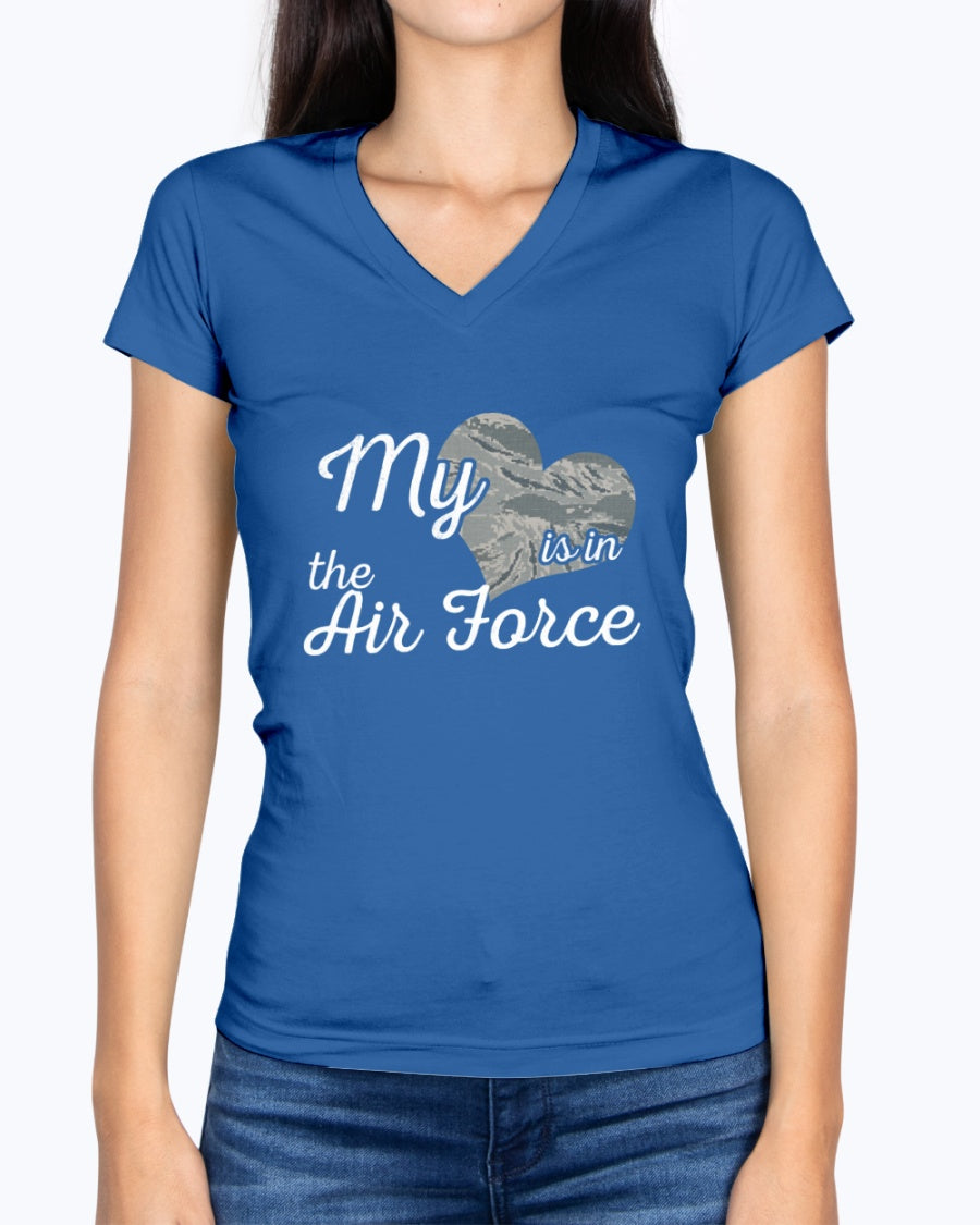 Air Force Mom Heart Located T-shirts