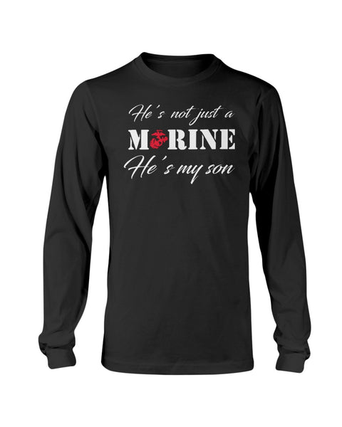 Not Just a Marine Mom Son T-shirts