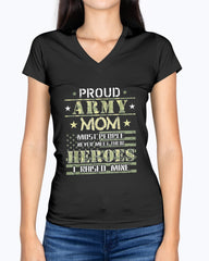 Army Mom I Raised My Heroes Camo T-shirts