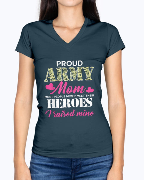 Proud Army Mom Meet Heroes T-shirts