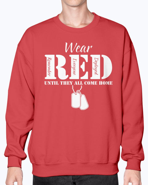 RED Friday Wear RED Until All Come Home T-shirts