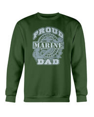 Proud Marine Dad US Military T-shirts