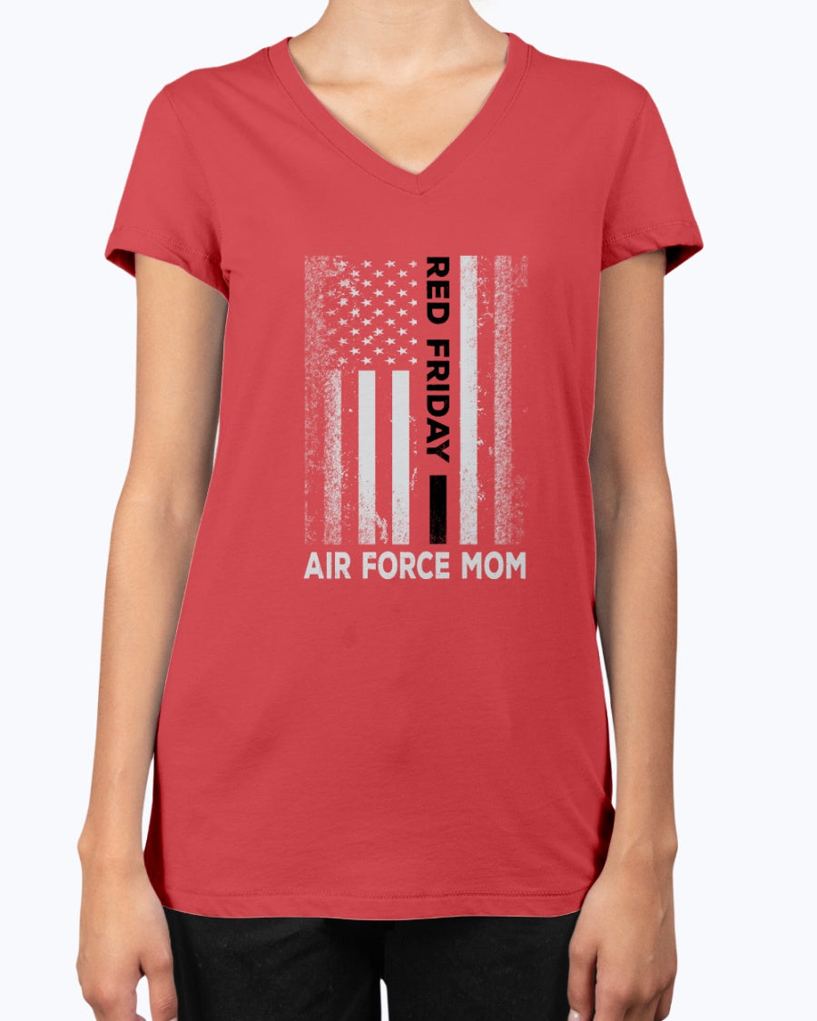 RED Friday Proud Air Force Mom T-shirts