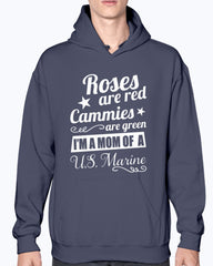Proud Marine Mom Roses Are Red T-shirts