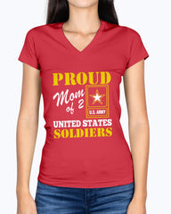 Proud Army Mom of 2 Soldiers T-shirts