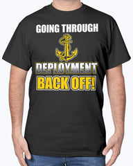 Proud Navy Mom Back Off T-shirts