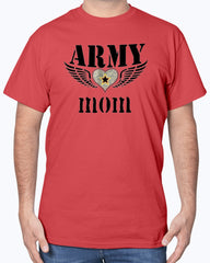 Proud Army Mom Wings T-shirts