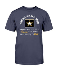 Army Mom He Protects Me T-shirts