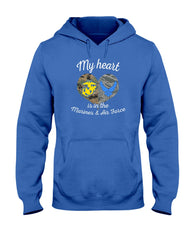 My Heart Marines Air Force Mom T-shirts