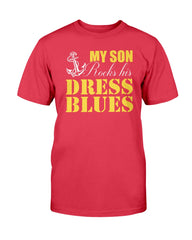 Rocks Dress Blues Navy Mom T-shirts