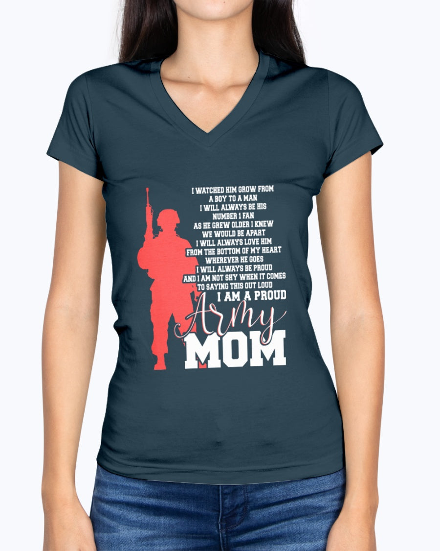 Proud Army Mom Not Shy T-shirts