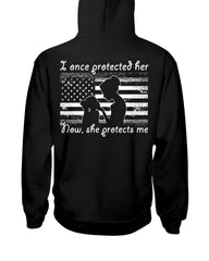 Navy Mom Daughter Once Protected Flag T-shirts