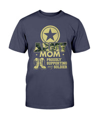 US Army Mom Proudly Camo T-shirts