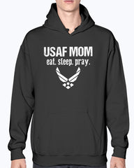 US Air Force Mom Eat Sleep Pray T-shirts