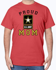Proud Army Mom Light Colors T-shirts
