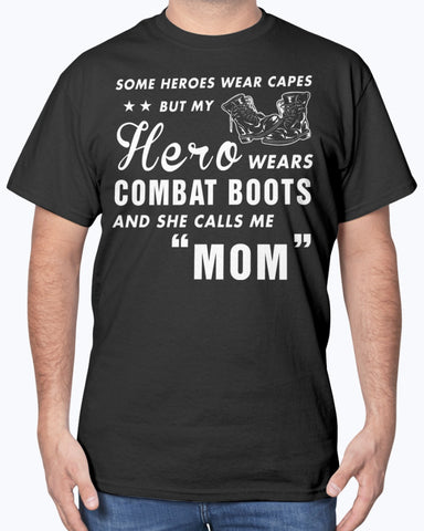 Military Mom Daughter Wears Combat Boots T-shirts
