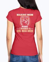 Marine Mom Daughter with Balls T-shirts