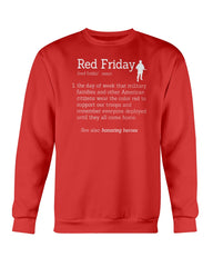 Red Friday Definition Military T-shirts