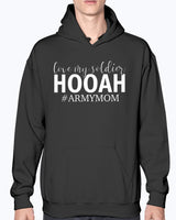 Proud US Army Mom HOOAH T-shirts