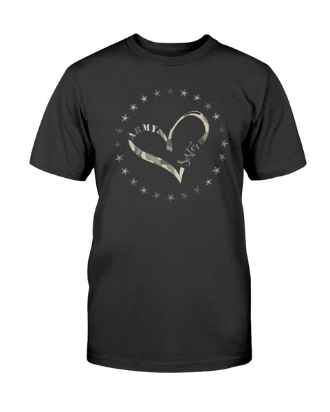US Army Sister Heart Camo T-shirts