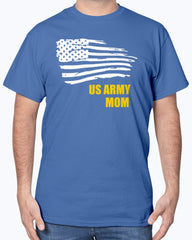 Proud Army Mom Flying Flag T-shirts