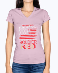 Red Friday Army Mom Soldier Military T-shirts
