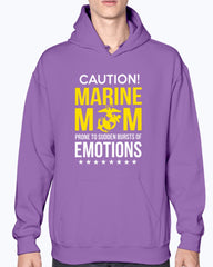 Marine Mom Caution Emotions T-shirts
