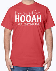 Proud Army Mom HOOAH T-shirts