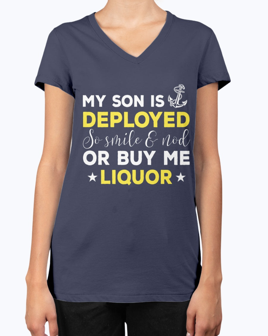Proud Navy Mom Buy Me Liquor T-shirts