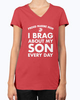 Proud Marine Mom Brag Every Day T-shirts