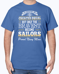 Navy Mom Created Equal Daughter T-shirts