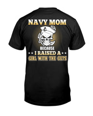 Navy Mom Daughter Guts T-shirts